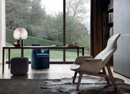 Poliform armchair and pouf
